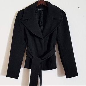 Zara Basic Button Up Peacoat